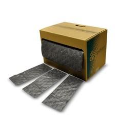 "Spilfyter 15"" x 75 ft Spilhyder Universal Gray Absorbent Roll"