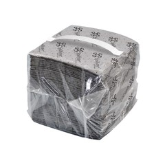"""Spilfyter 16"""" x 14"""" Streetfyter Universal Compact Gray LW Dimpled Absorbent Pad 200/Bag"""