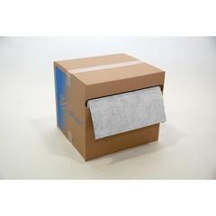 """Spilfyter 16"""" x 150 ft Spilhyder Oil-Only White MW Roll 1/Dispenser Absorbent Box"""