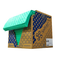 "Buy Spilfyter 16"" x 18"" Premium Green LW Universal Absorbent Pad 200/Box on sale online"
