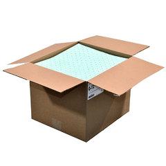 "Spilfyter 16"" x 18"" Premium Green MW Universal Absorbent Pad 100/Box"