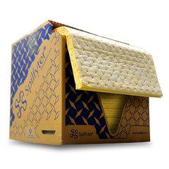 "Spilfyter 16"" x 18"" Premium Yellow SM Hazmat HW Perfed Absorbent Pad 100/Box"