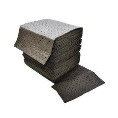 "Spilfyter 16"" x 18"" Standard Gray LW Universal Absorbent Pad 200/Box"