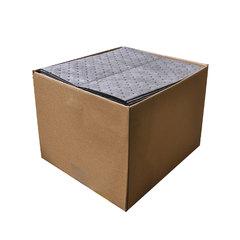 "Spilfyter 16"" x 18"" Standard Gray MW Universal Absorbent Pad 24 gal/case 100/Box"