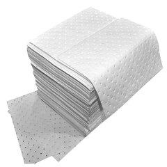 "Spilfyter 16"" x 18"" Standard White Oil-Only HW Absorbent Pad 100/Box"