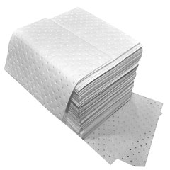 """Spilfyter 16"""" x 18"""" Standard White Oil-Only MW Absorbent Pad 100/Box"""