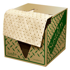"""Spilfyter 16"""" x 18"""" Sustayn Recycled Natural Oil-Only HW Absorbent Pad 100/Box"""