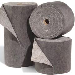 "Spilfyter 18"" x 150 ft Spilhyder Universal Recycled Fiber Gray Absorbent Roll 2/Bag"