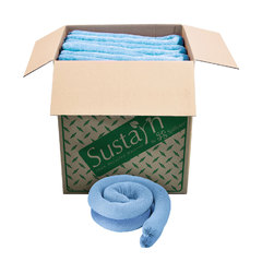 "Buy Spilfyter 3"" x 4 ft 100% Sustayn Recycled Oil-Only Blue Absorbent Sock 40/Box on sale online"