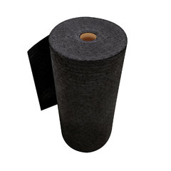 "Buy Spilfyter 32"" x 150 ft Sustayn Recycled Black HW Perfed Universal Absorbent Roll on sale online"