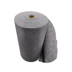 "Spilfyter 36"" x 150' Spilhyder Recycled Fiber Gray Roll 1/Bag"