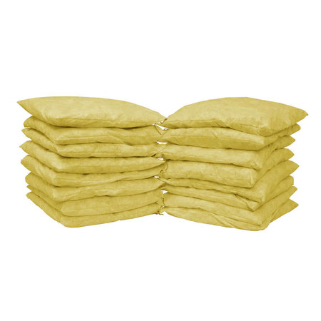 "Buy Spilfyter 8.5"" x 17"" Premium Yellow Hazmat Absorbent Pillow 10/Box on sale online"