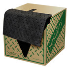 "Spilfyter 16"" x 18"" Sustayn Recycled Universal Black HW Perfed Absorbent Pad 100/Box"