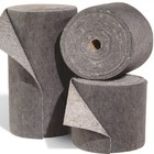 "Spilfyter 18"" x 150 ft Spilhyder Universal Recycled Fiber Gray Absorbent Roll 2/Bag"