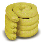 "Spilfyter 3"" x 10 ft Premium Yellow Hazmat Absorbent Sock 6/Box"